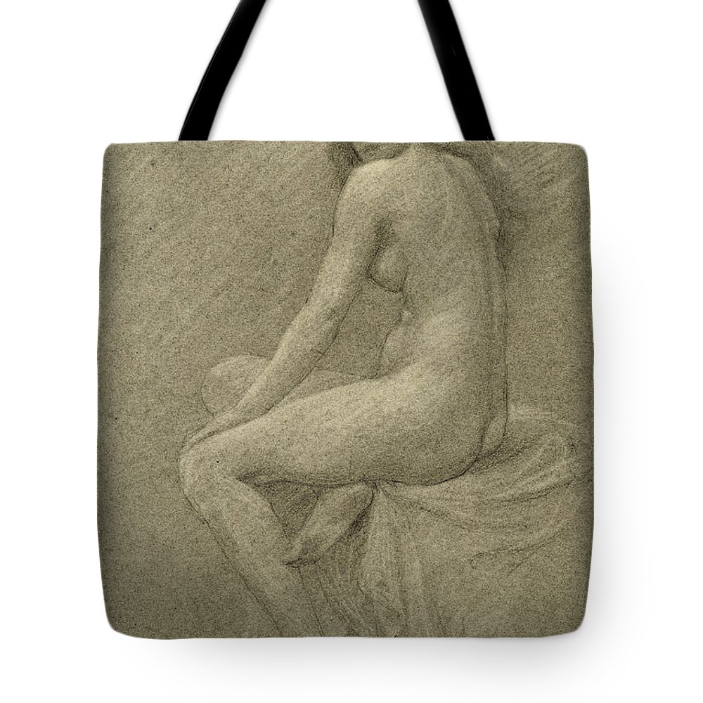 Study Tote Bag featuring the drawing Study For Lilith by Robert Fowler