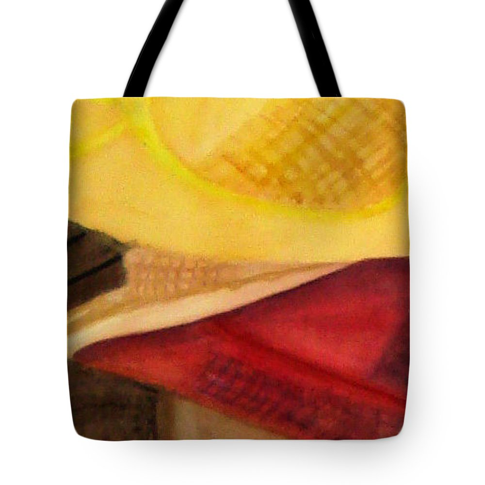 Hats Tote Bag featuring the painting Stylish by Yael VanGruber