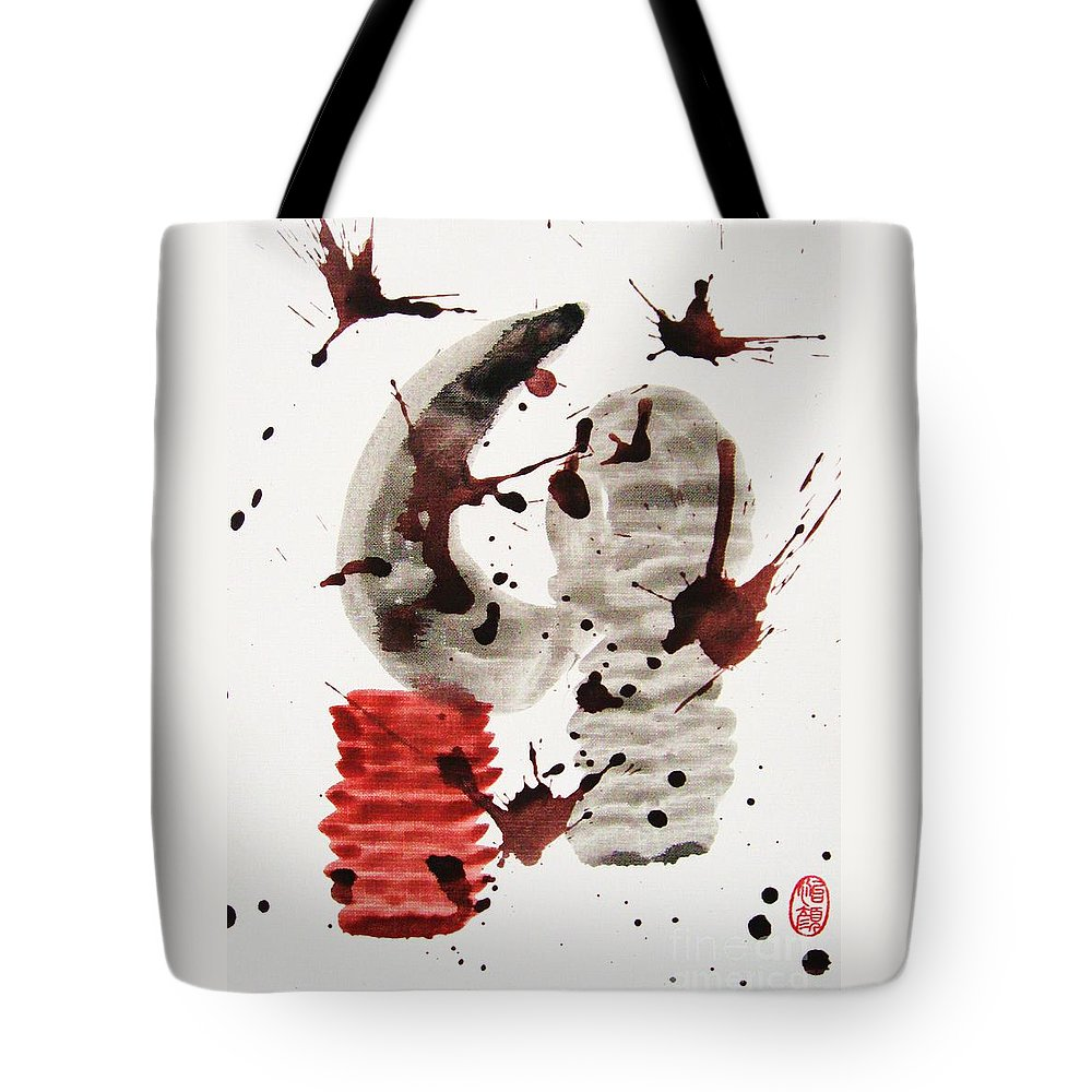 Abstract Tote Bag featuring the painting Subete No Shiko No Taisho by Roberto Prusso