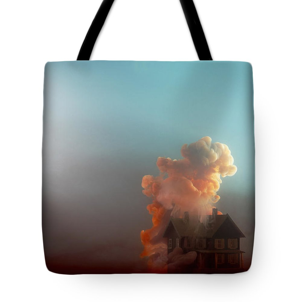 Model House Tote Bag featuring the photograph Submerged House by Paul Taylor