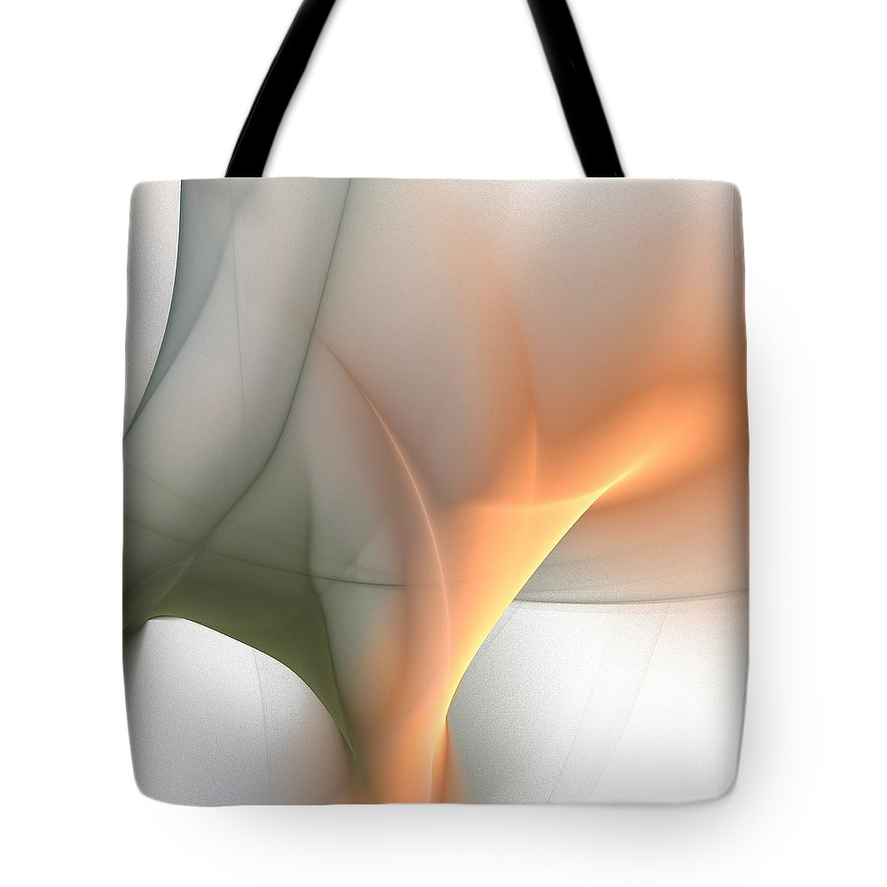 Subtle Suggestion Tote Bag featuring the digital art Subtle Suggestion by Elizabeth McTaggart