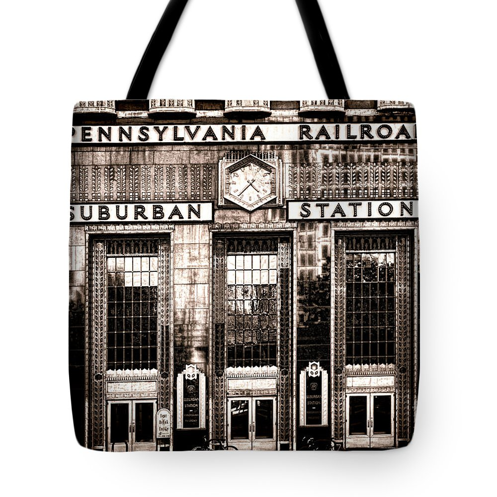 Railroad Station Photographs Tote Bags