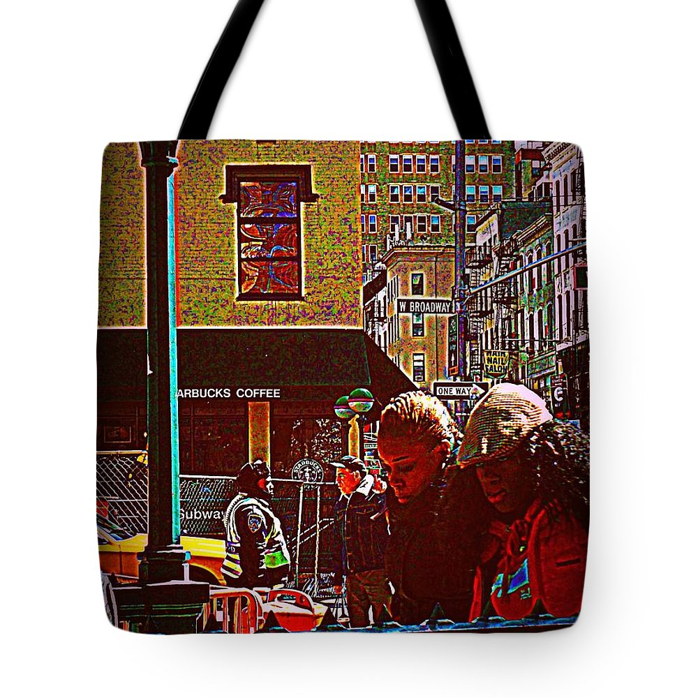 Girl Tote Bag featuring the photograph Subway - Late Afternoon Rush On A Cold Day by Miriam Danar