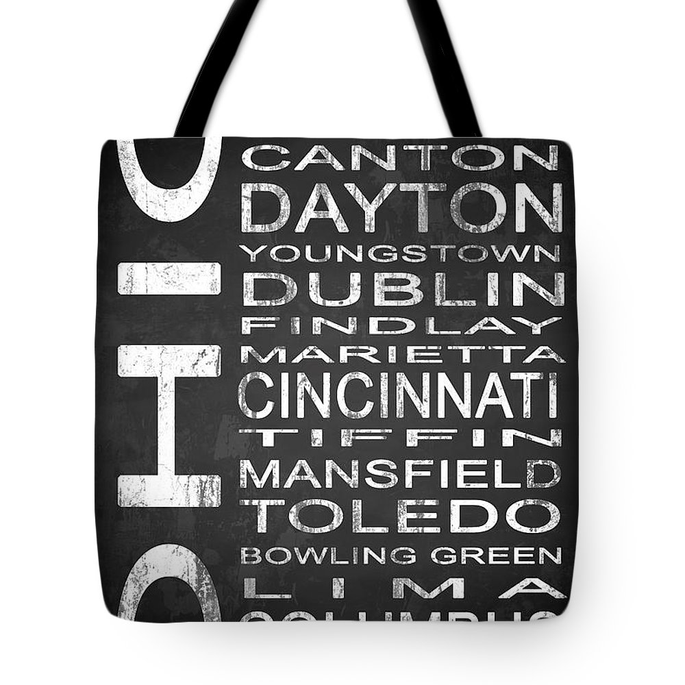 Subway Sign Tote Bag featuring the digital art Subway Ohio State 1 by Melissa Smith