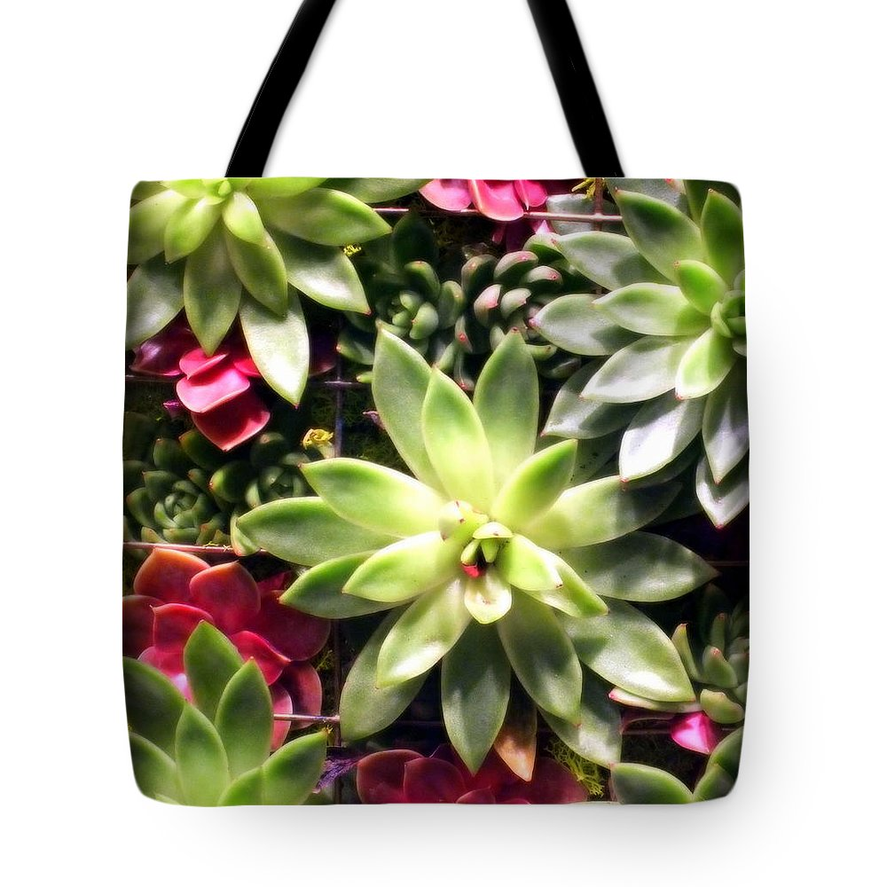 Florals Tote Bag featuring the photograph Succulent Beauties by Karen Wiles