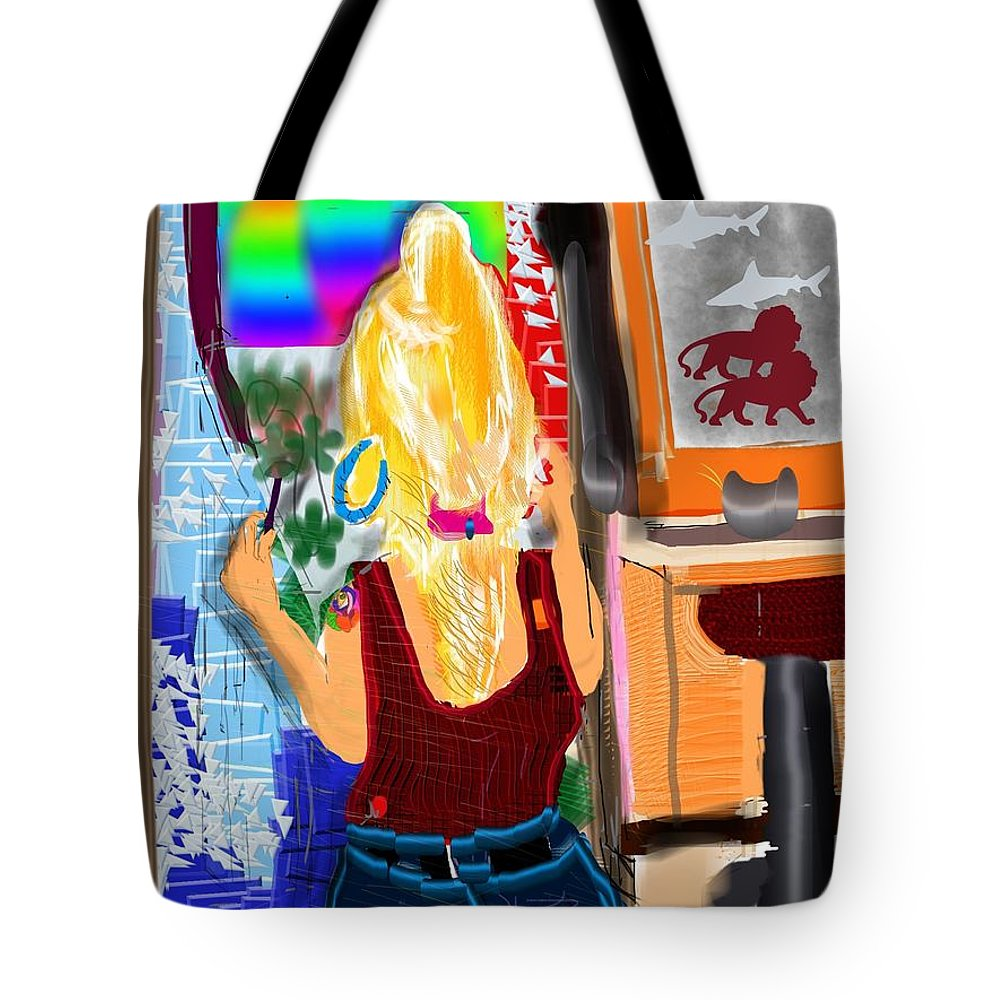 Woman Tote Bag featuring the digital art Such A Skillful Wrist by Michael Bartlett