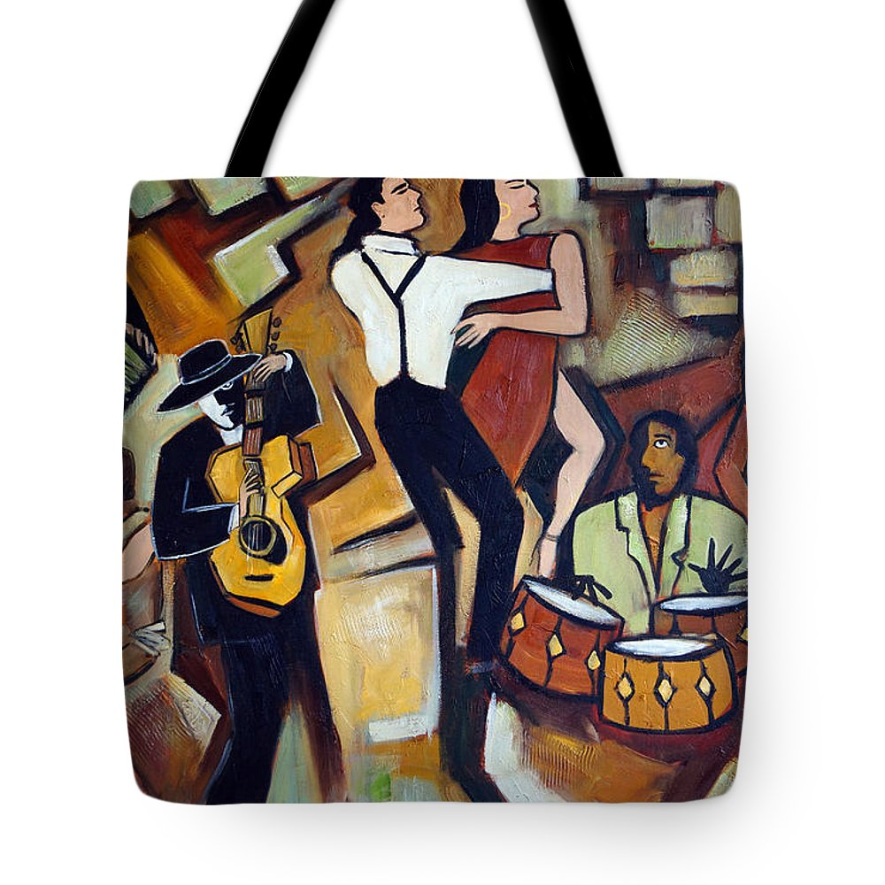 Tango Tote Bag featuring the painting Suenos De Tango by Valerie Vescovi