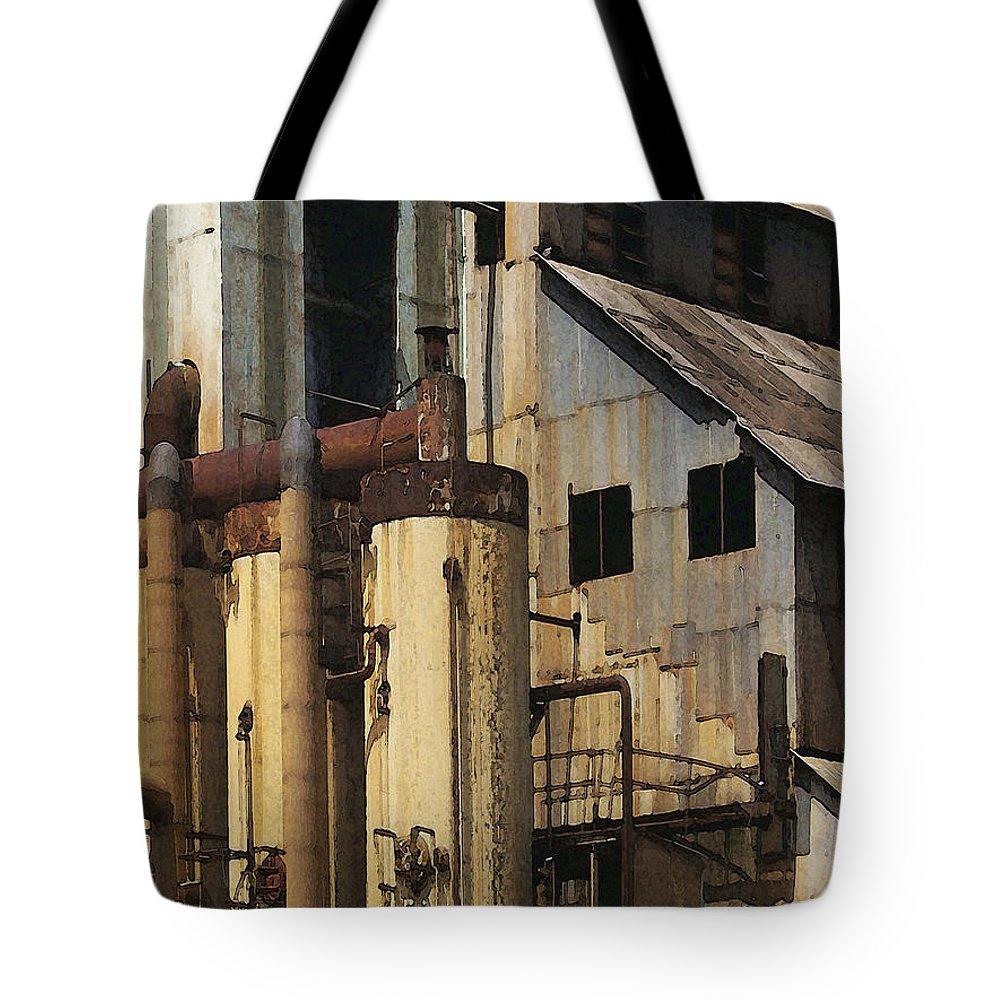 Digital Tote Bag featuring the digital art Sugar Factory by David Hansen