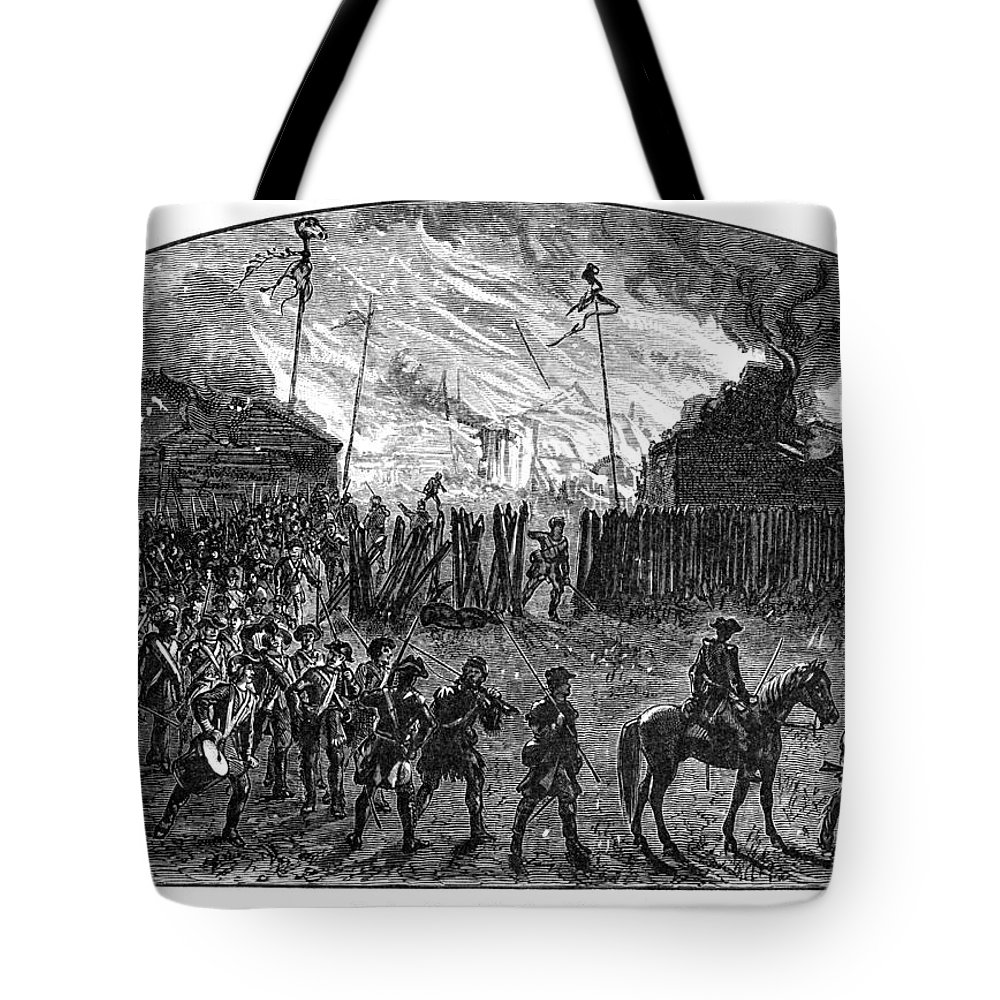 1779 Tote Bag featuring the photograph Sullivans March, 1779 by Granger