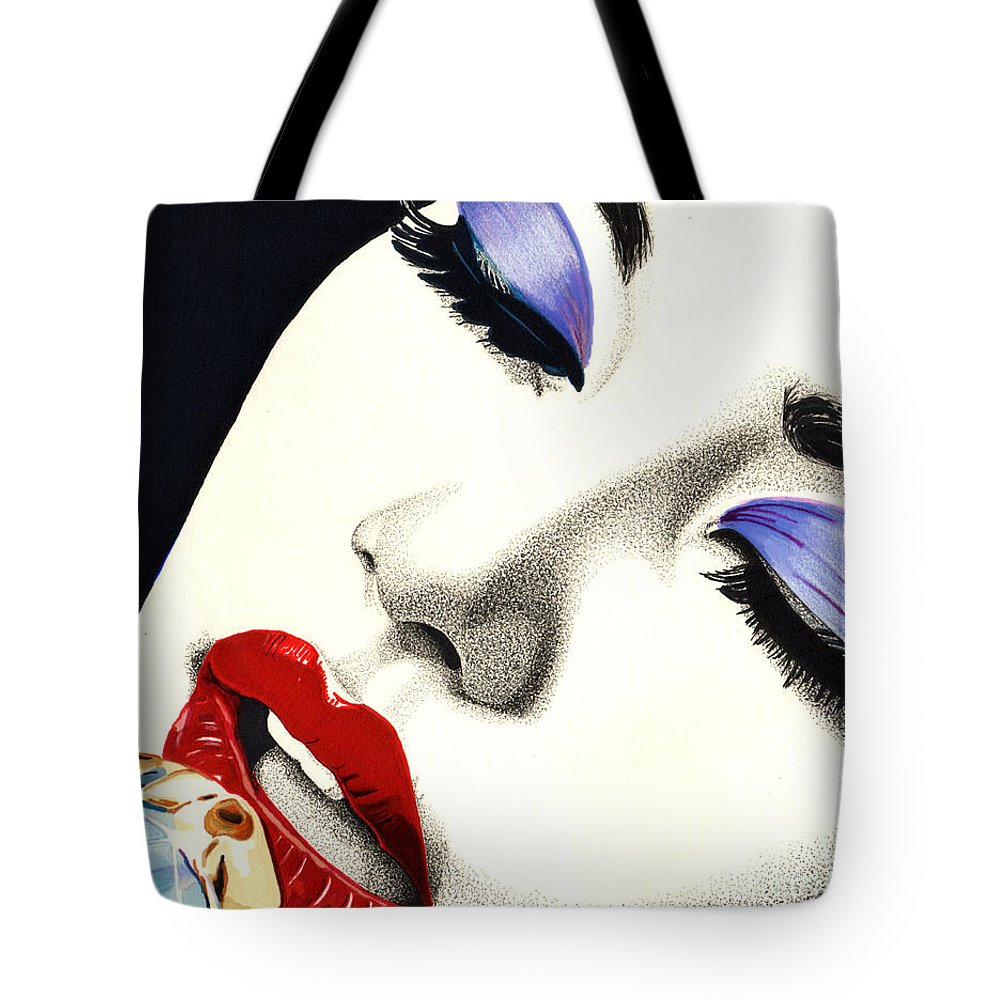 Music Tote Bag featuring the drawing Sultry Sound by Cory Still