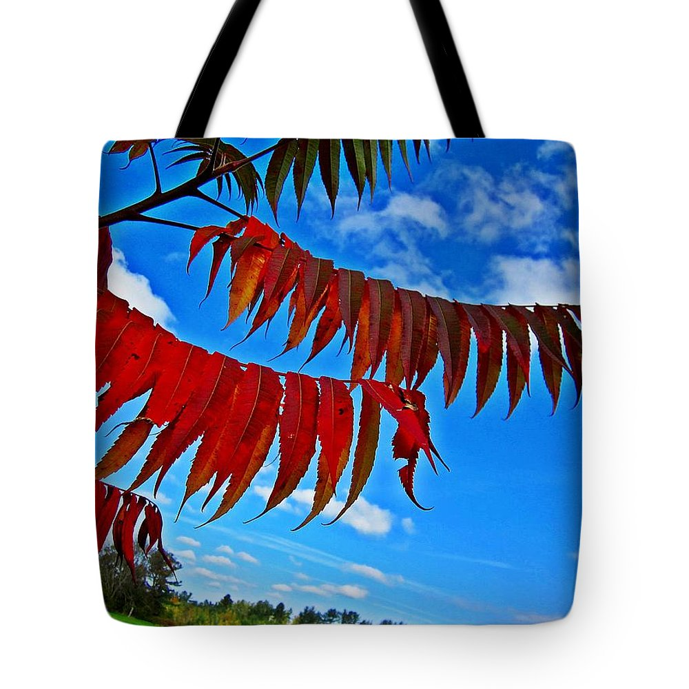 Field Tote Bag featuring the photograph Sumac Red by MTBobbins Photography