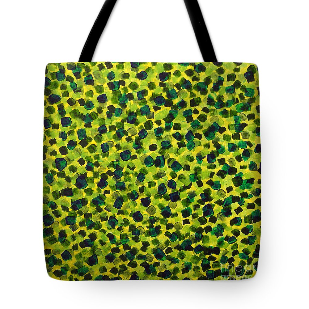 Abstract Tote Bag featuring the painting Sunlight Through The Trees 2 by Dean Triolo
