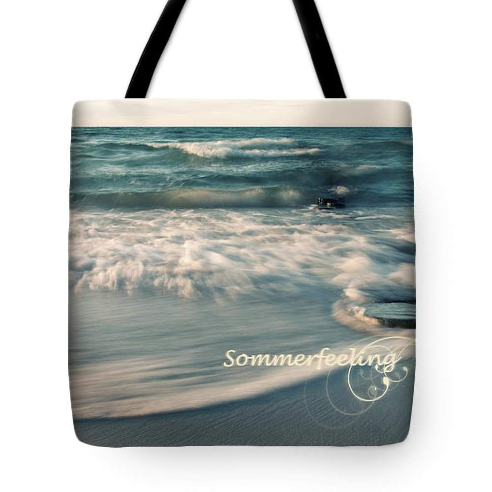 Ostsee Tote Bag featuring the pyrography Summer Beach by Steffen Gierok