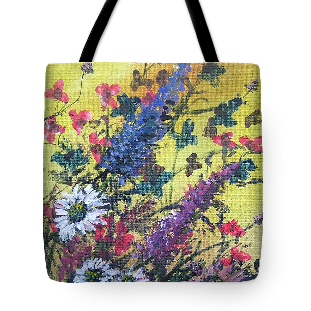 Floral Tote Bag featuring the painting Summer Breeze by Gerald Rader