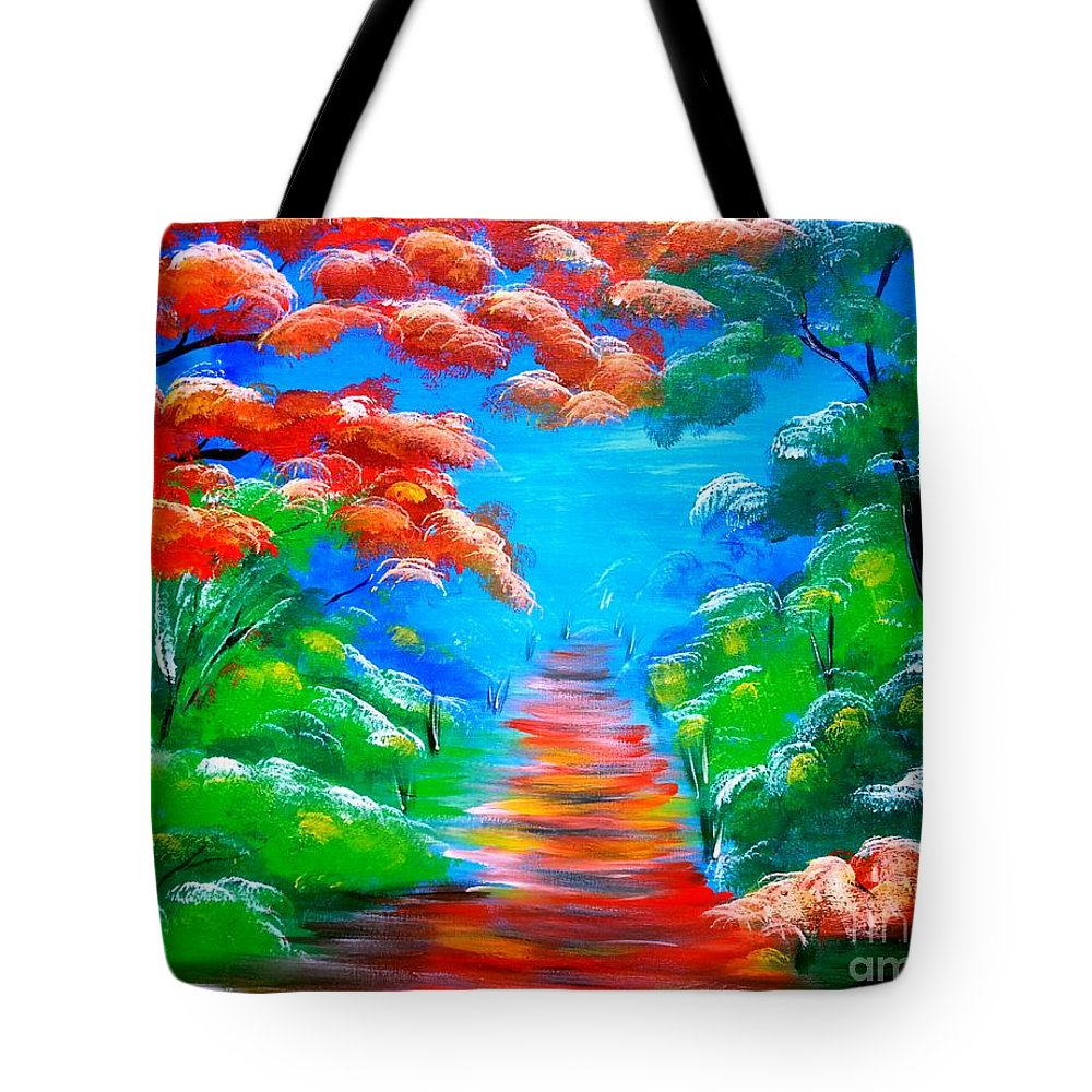 Jamaica Paintings Tote Bag featuring the painting Summer by Collin A Clarke