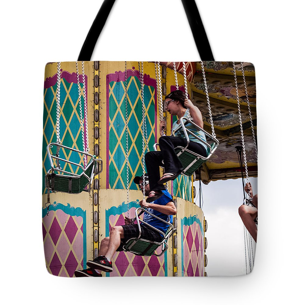 Thrilling Ride Tote Bag featuring the photograph Summer Fair-10 by David Fabian