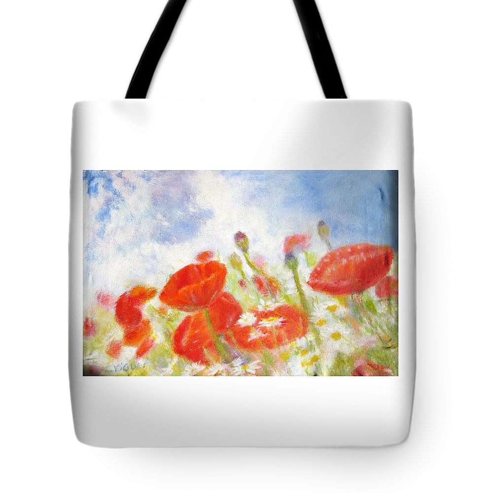 Impressionism Tote Bag featuring the painting Summer Flowers by Glenda Crigger