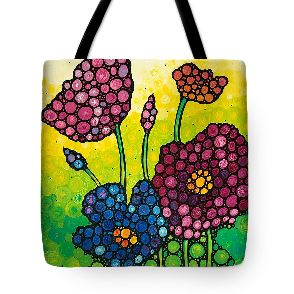 Flowers Tote Bag featuring the painting Summer Garden by Sharon Cummings