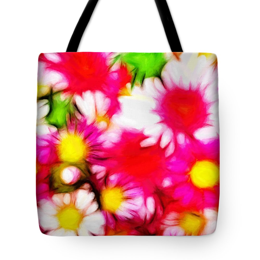 Pastel Painting Summer Garden Flower Flowers Color Colorful Expressionism Abstract Nature Impressionism Tote Bag featuring the painting Summer Garden by Steve K