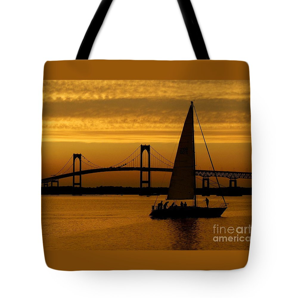 Newport Tote Bag featuring the photograph Newport Rhode Island by Eclectic Captures