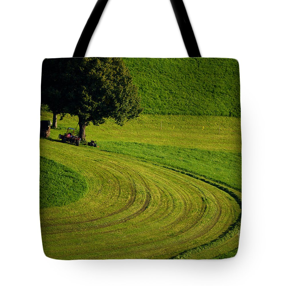 Summer In Switzerland Tote Bag featuring the photograph Summer In Switzerland by Susanne Van Hulst