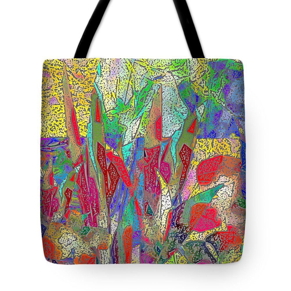 Abstract Tote Bag featuring the digital art Summer In The Meadow by Ruth Palmer