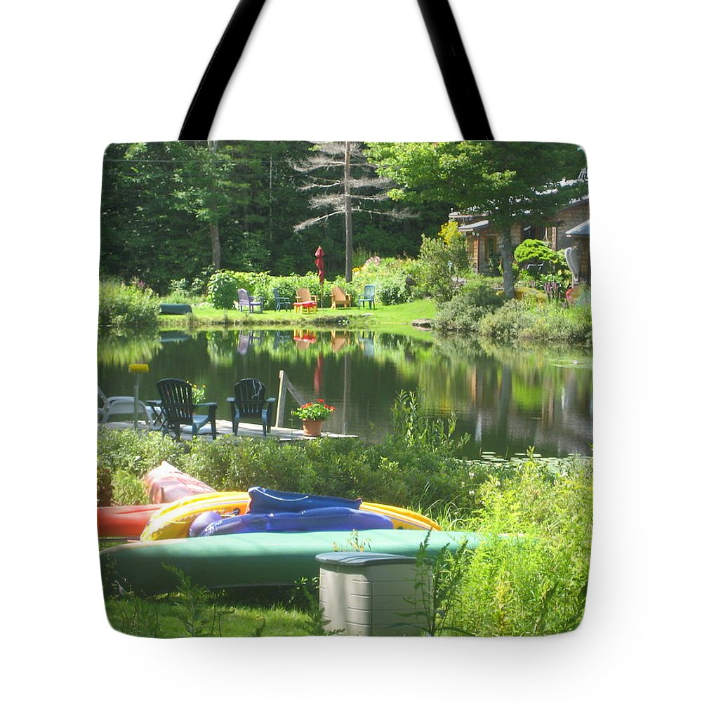 Landscape Tote Bag featuring the photograph Summer In Vermont by Barbara McDevitt