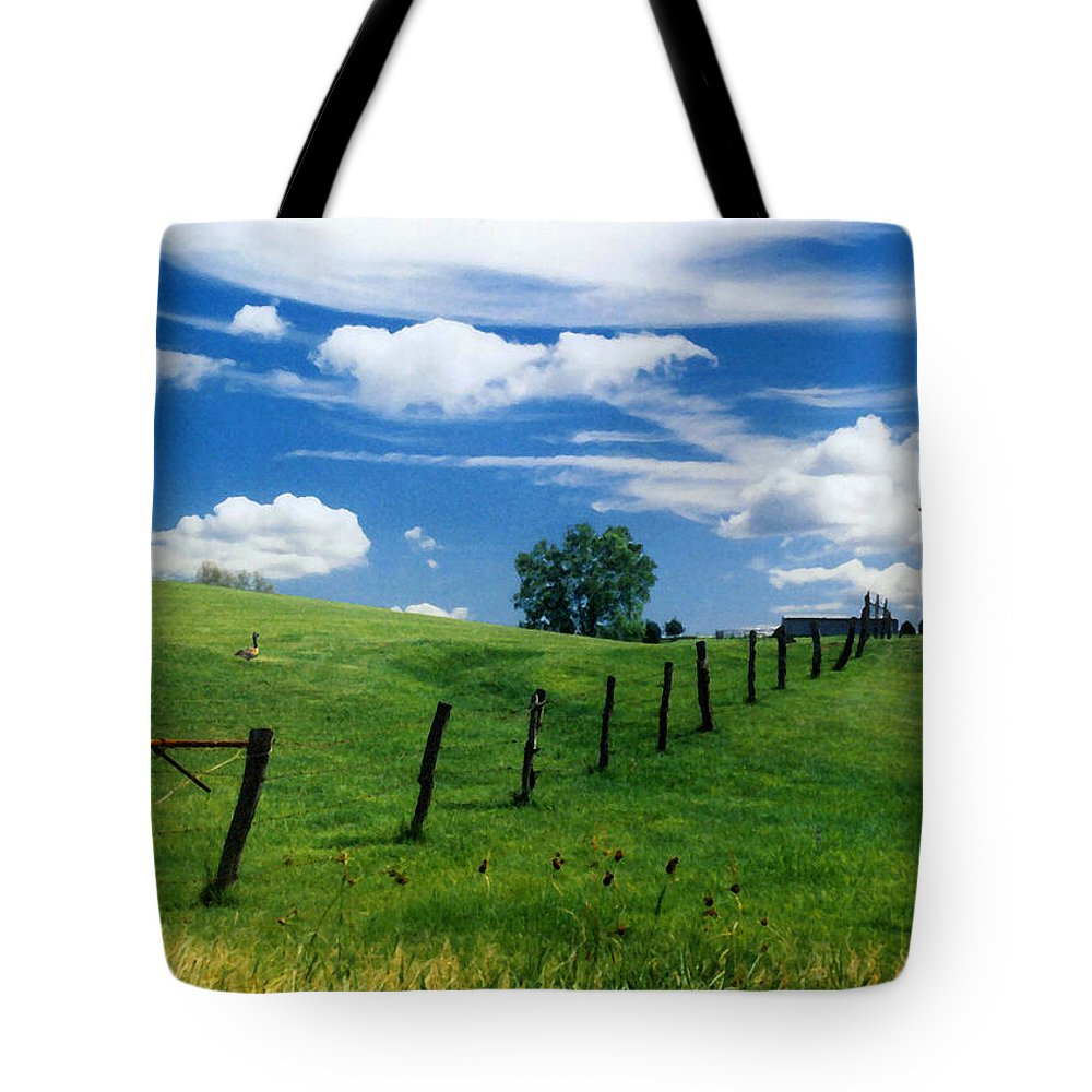 Summer Landscape Tote Bag featuring the photograph Summer Landscape by Steve Karol
