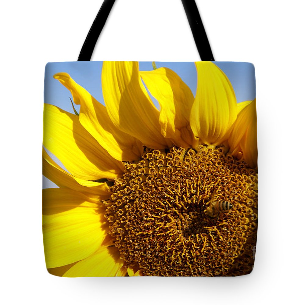Sunflower Tote Bag featuring the photograph Summer Love by Linda Shafer