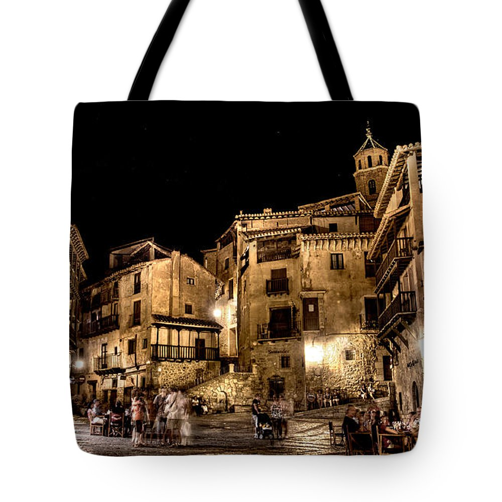 Albarracin Tote Bag featuring the photograph Summer Night In Albarracin Spain by Weston Westmoreland