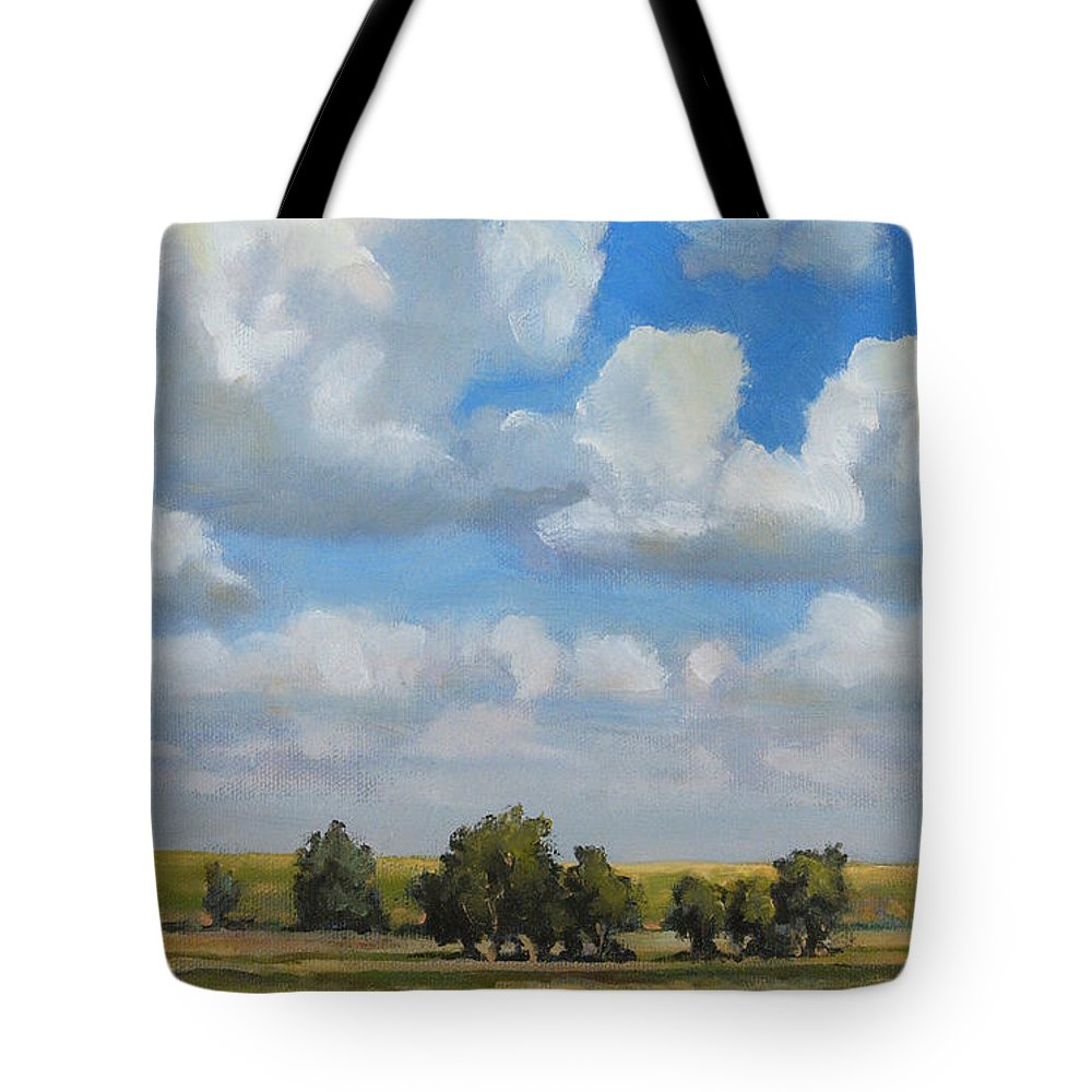 Landscape Tote Bag featuring the painting Summer Pasture by Bruce Morrison