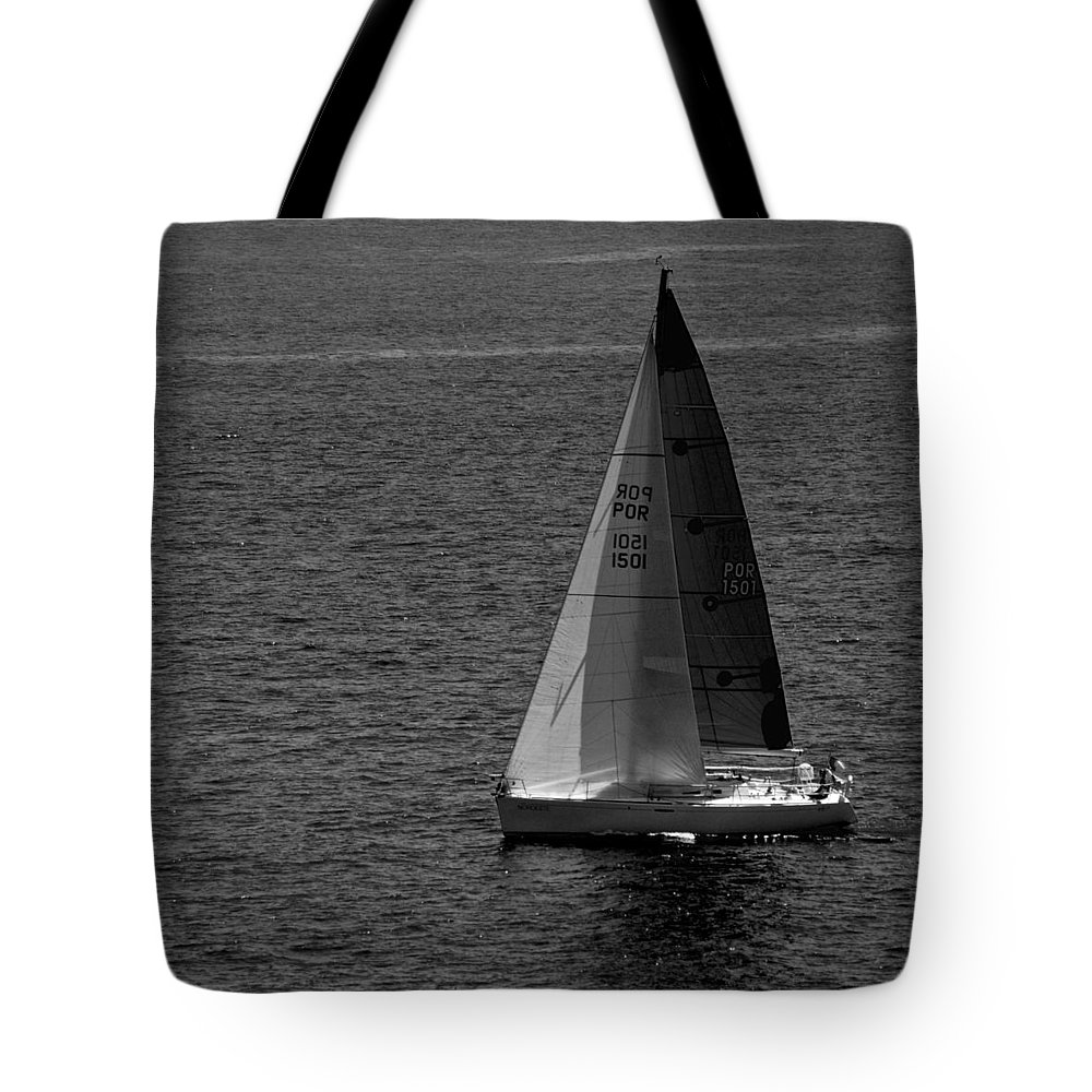 Sailboat Tote Bag featuring the photograph Summer Sail by Eric Tressler