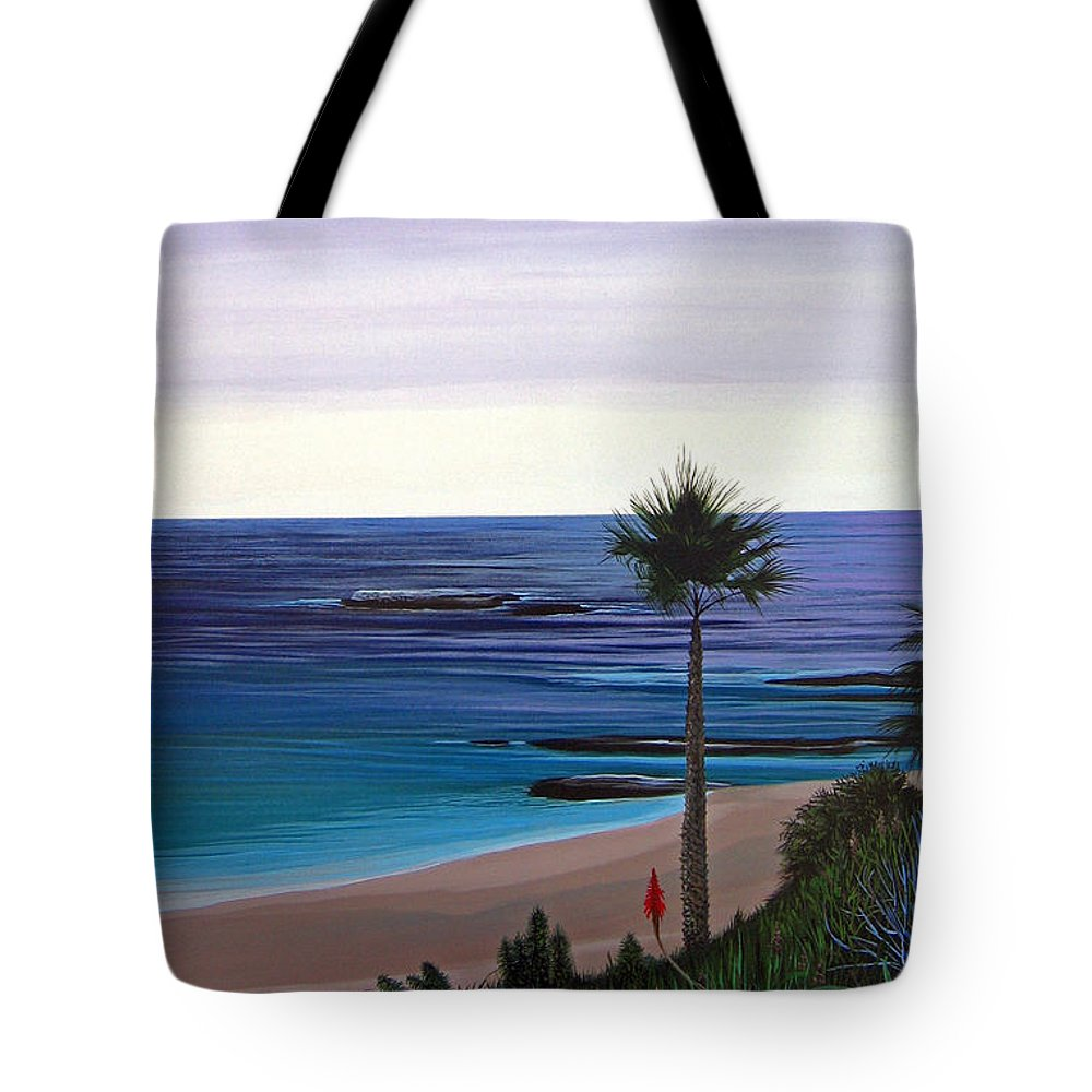 Malibu Beach Tote Bag featuring the painting Summer Samba by Hunter Jay