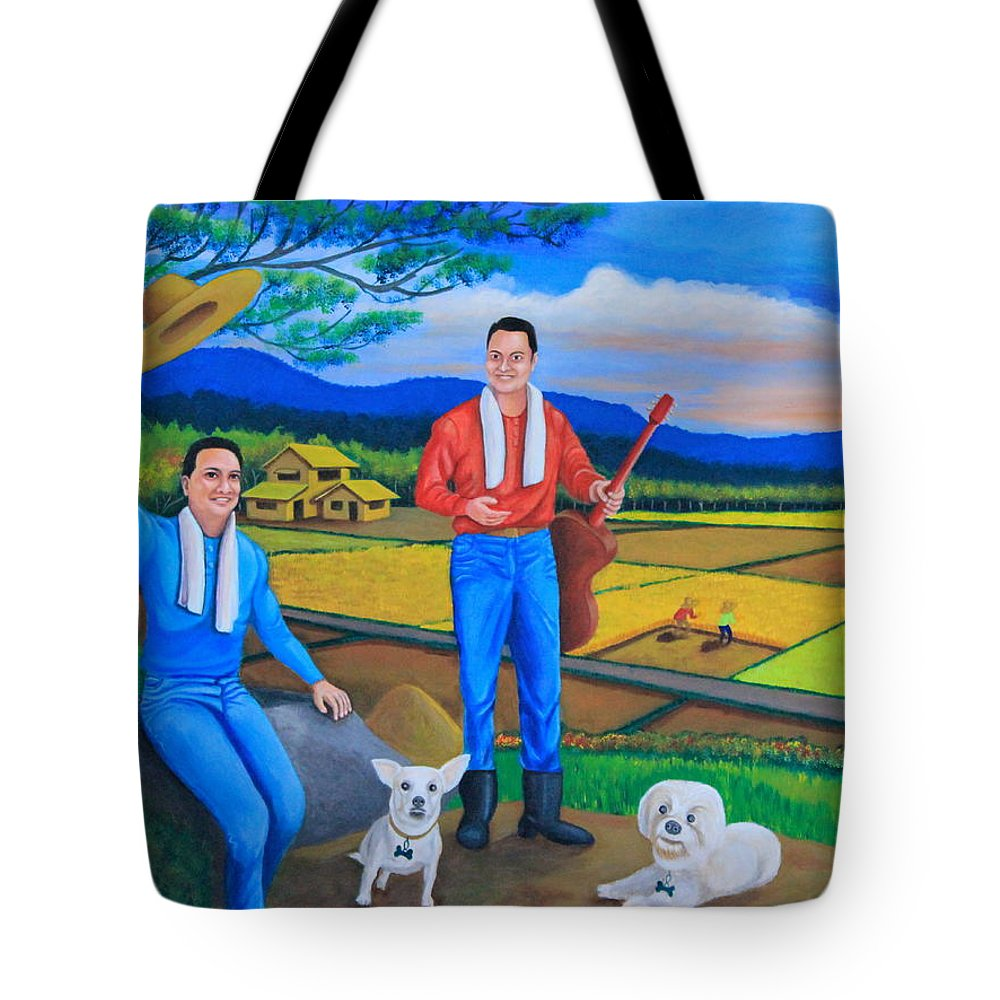 Summer View Tote Bag featuring the painting Summer View by Lorna Maza