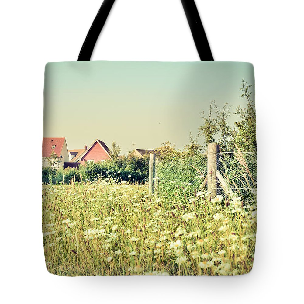 Blue Tote Bag featuring the photograph Summer Wildflowers by Tom Gowanlock