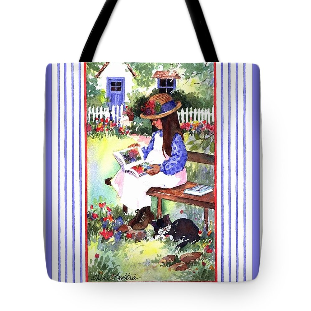 Lchildren's Rooms Tote Bag featuring the painting Summer's Day Story by Sherri Crabtree