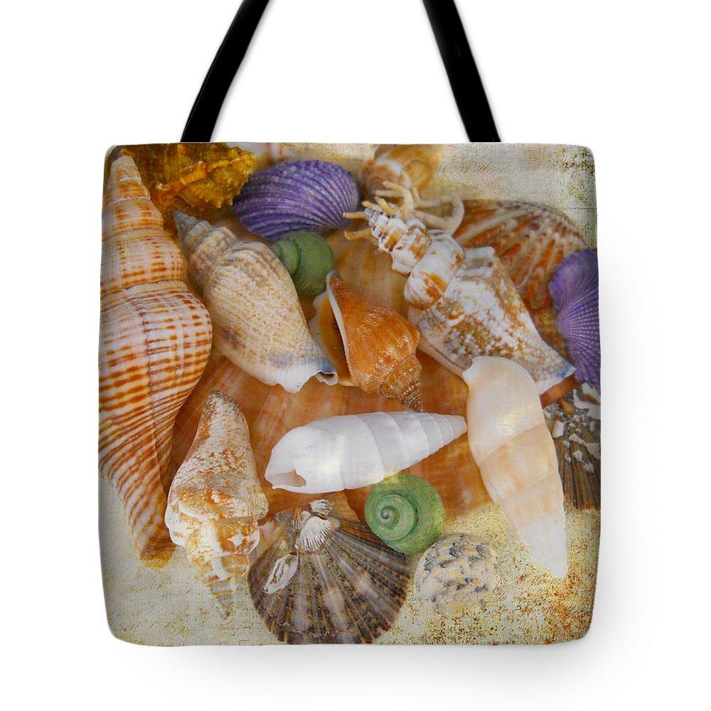 Shells Tote Bag featuring the photograph Summertime Relics by Judy Hall-Folde
