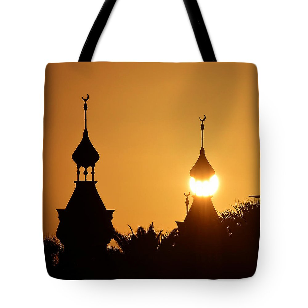 Fine Art Photography Tote Bag featuring the photograph Sun And Moons by David Lee Thompson