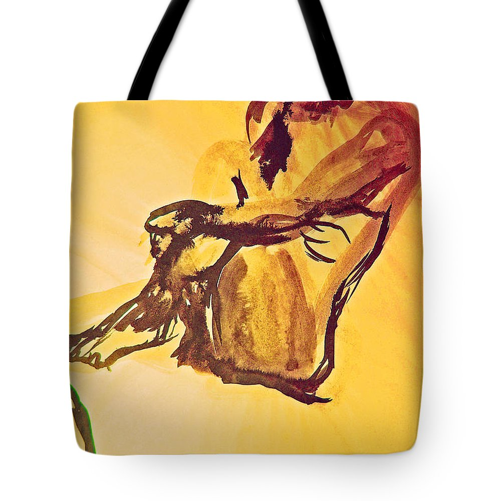 First Star Art Tote Bag featuring the painting Sun Bath By Jrr by First Star Art