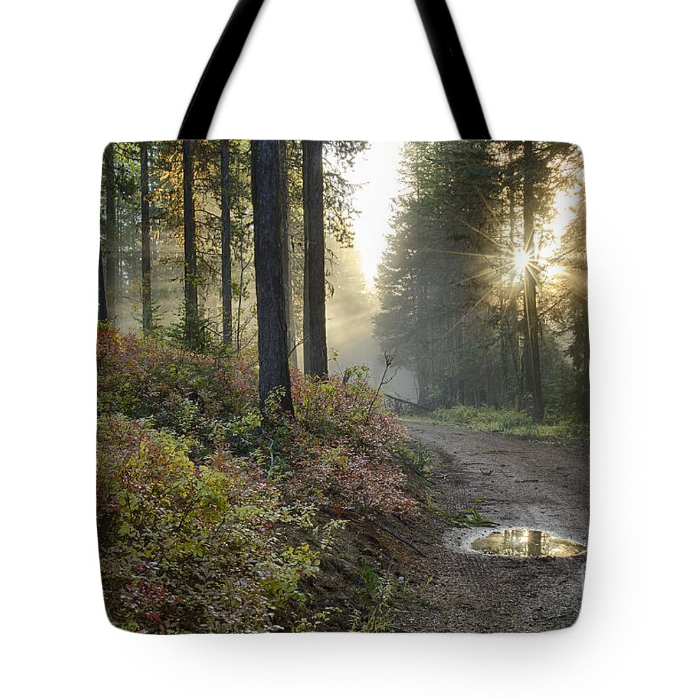 Idaho Tote Bag featuring the photograph Huckleberry Road by Idaho Scenic Images Linda Lantzy