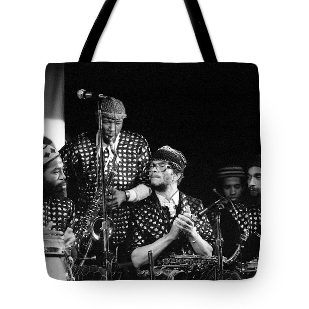 Jazz Tote Bag featuring the photograph Sun Ra Arkestra With John Gilmore by Lee Santa