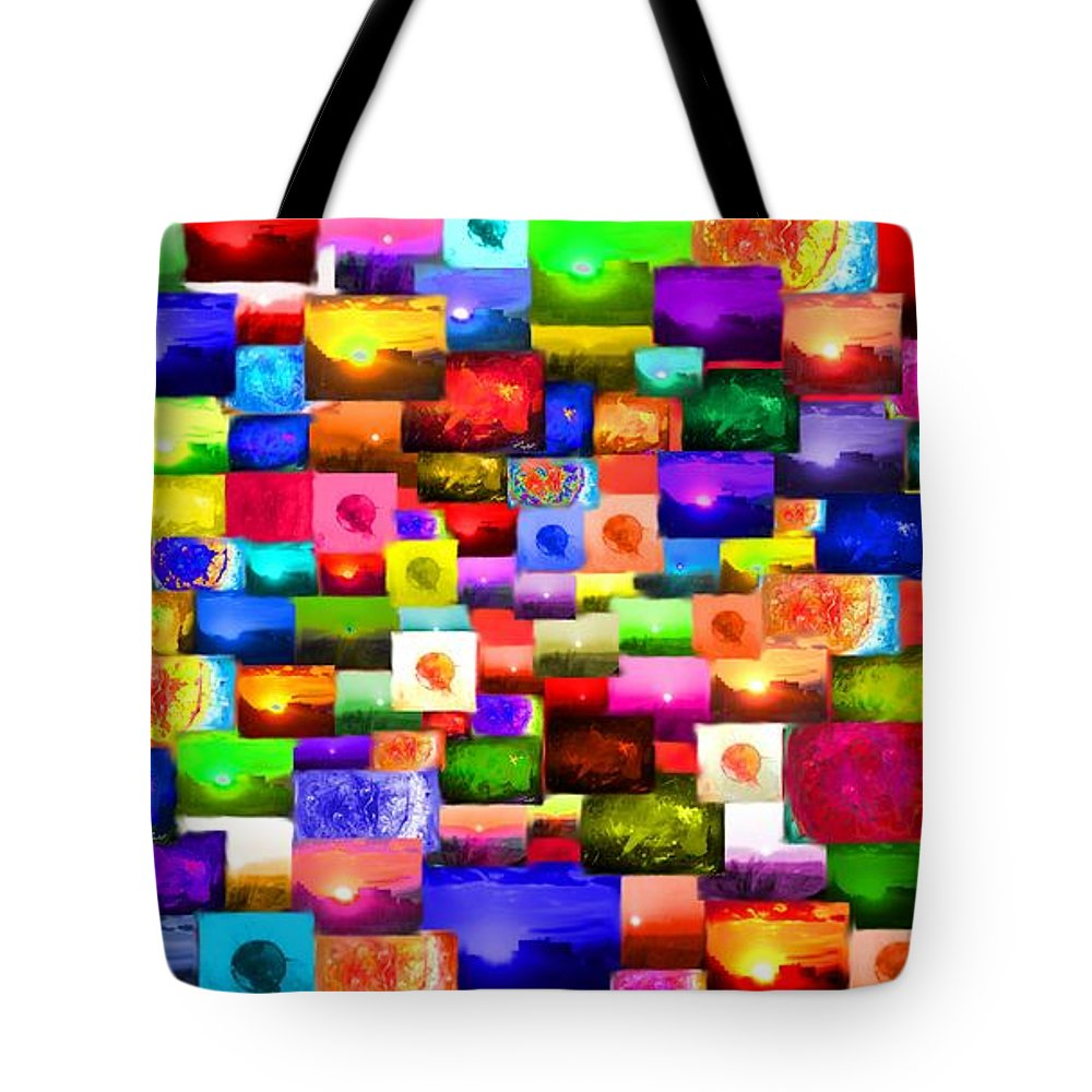 Collage Tote Bag featuring the photograph Sun Stuff - Collage by Marcello Cicchini