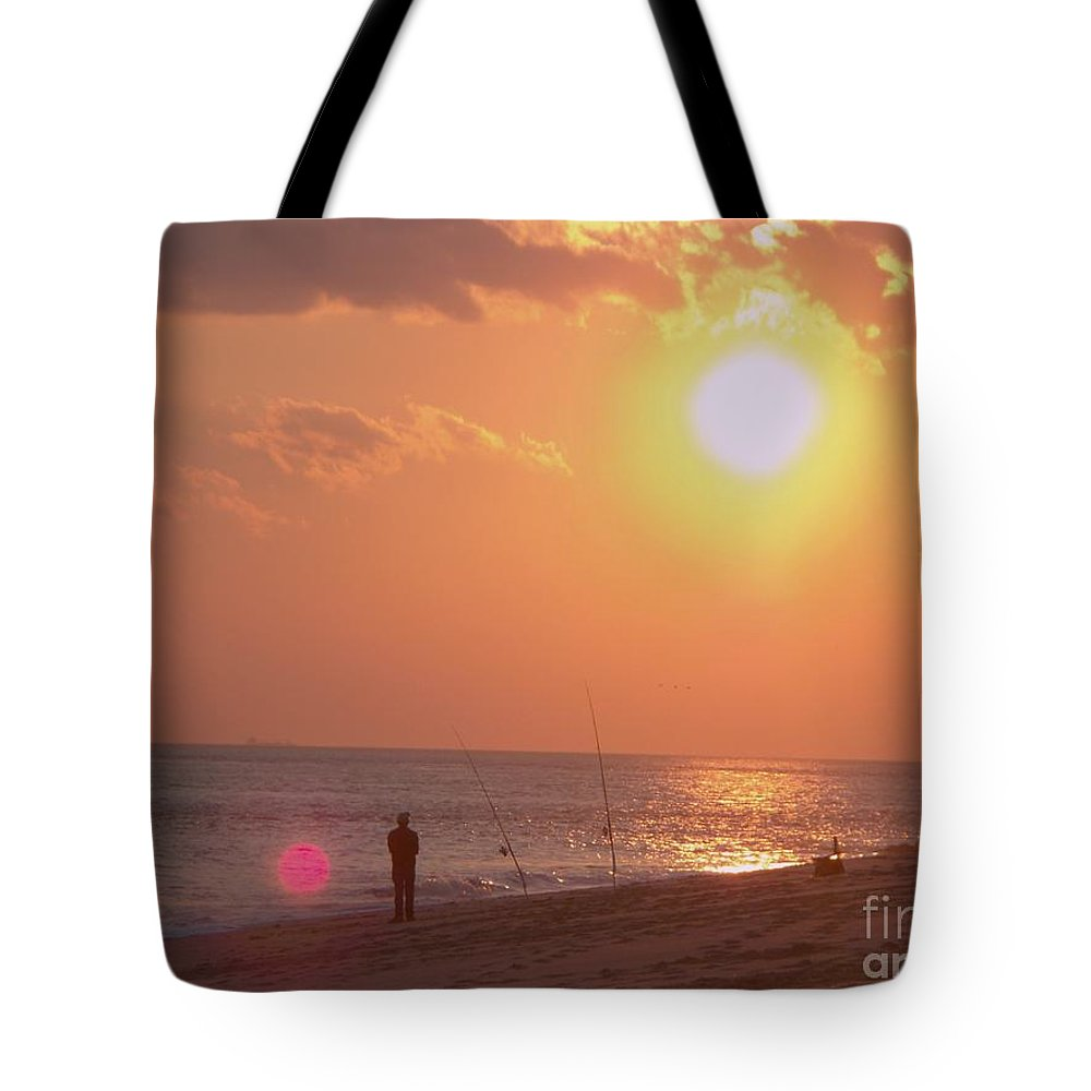 Seascape Tote Bag featuring the photograph Sun Surf And Sea by Eric Schiabor