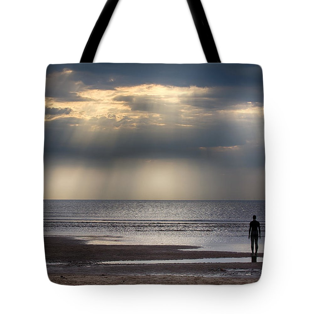 Another Place Tote Bag featuring the photograph Sun Through The Clouds 2 by Leah Palmer