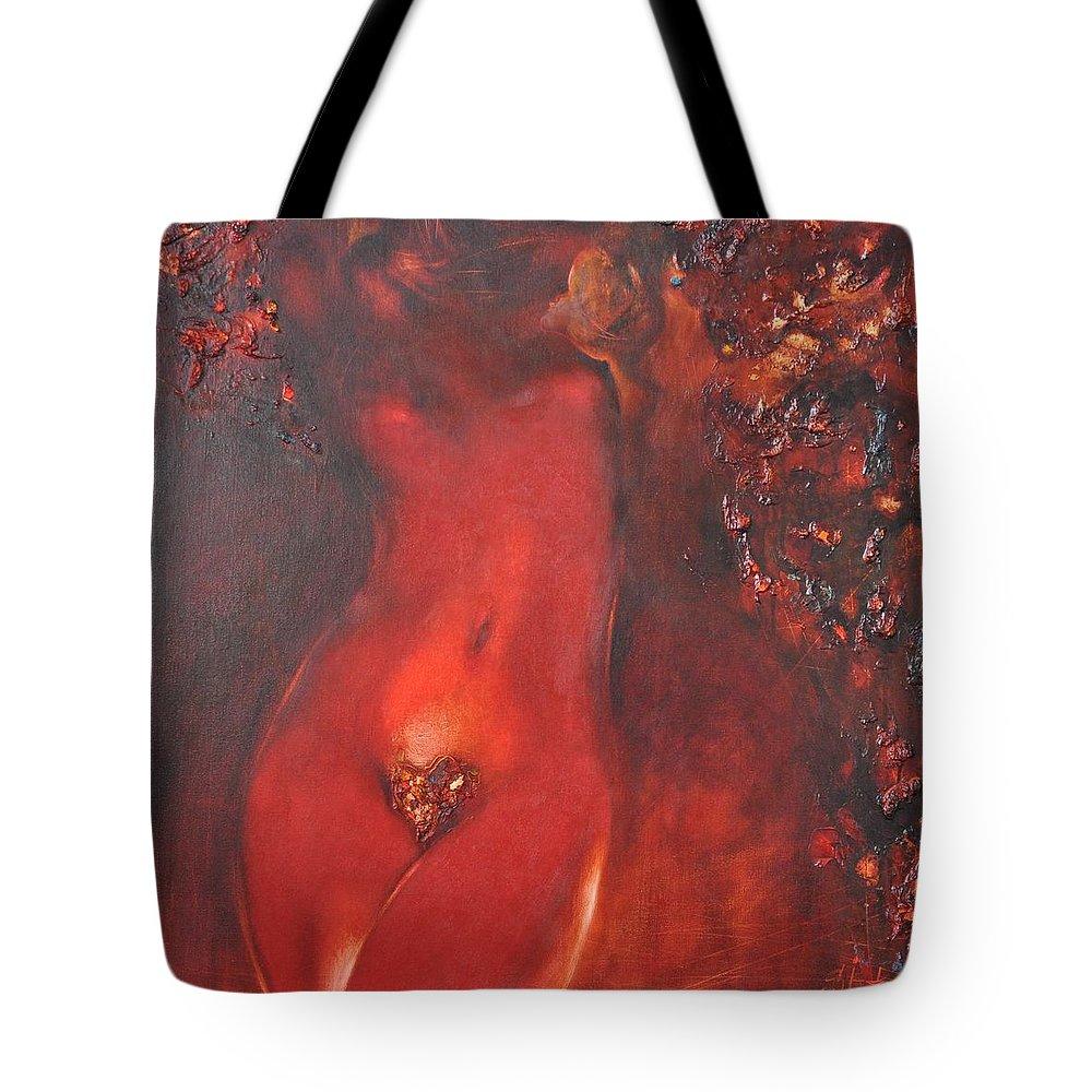 Ignatenko Tote Bag featuring the painting Sunbeams1 by Sergey Ignatenko