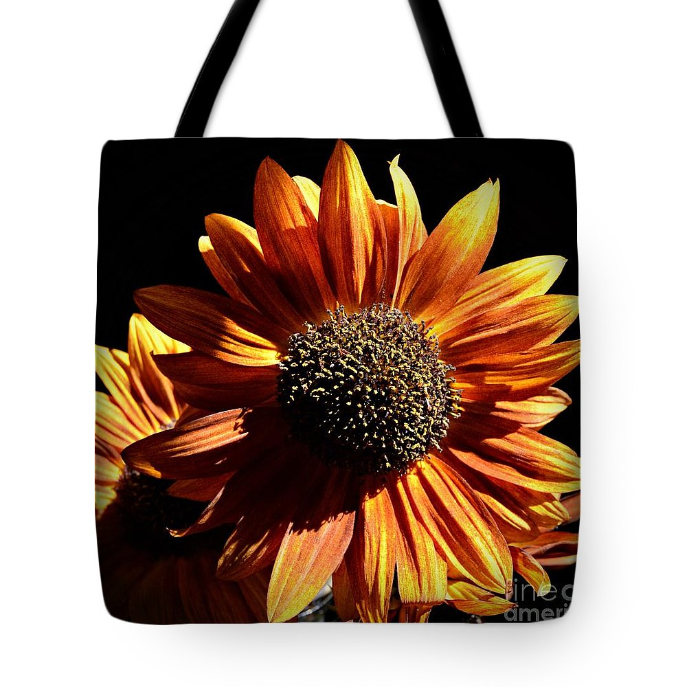 Sunburst Tote Bag featuring the photograph Sunburst by Chalet Roome-Rigdon