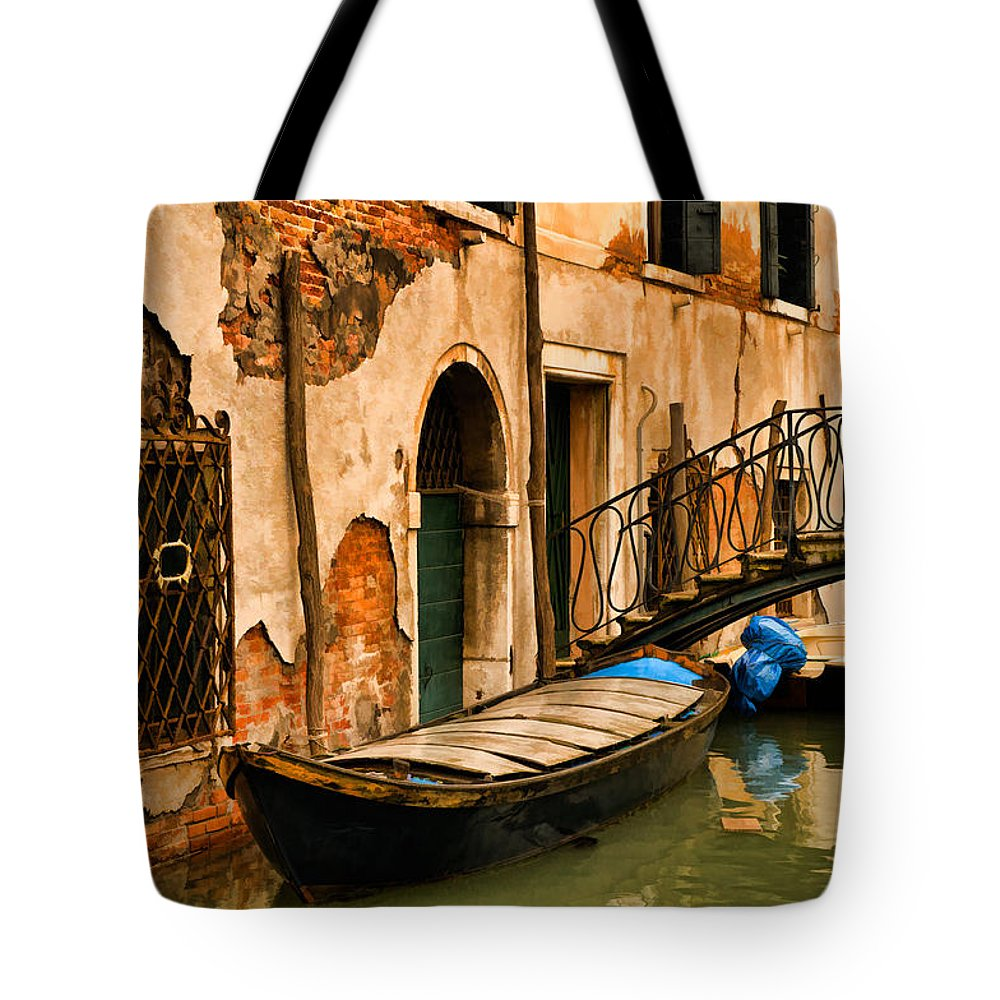 Venice Tote Bag featuring the digital art Sunday In Venice by Mick Burkey