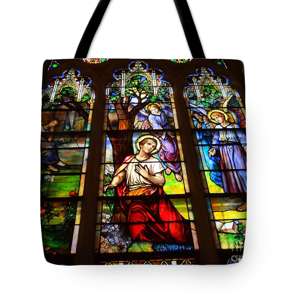 Stained Glass Tote Bag featuring the photograph Sunday Morning by Ed Weidman