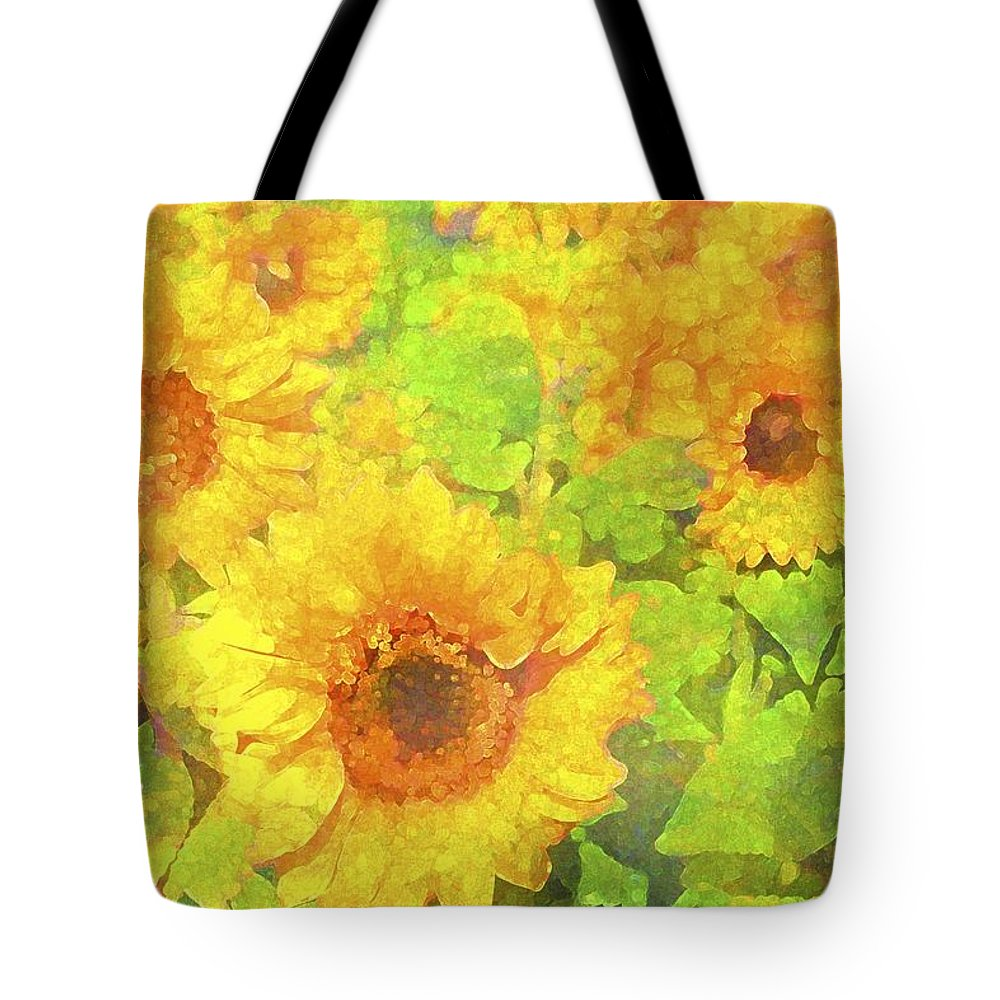 Floral Tote Bag featuring the photograph Sunflower 19 by Pamela Cooper