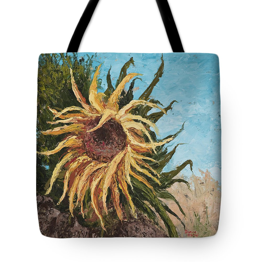 Sunflower Tote Bag featuring the painting Sunflower by Darice Machel McGuire